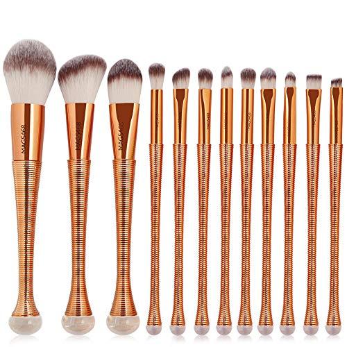 12pcs / pack Pinceaux de maquillage cosmétiques Set Fondation poudre Blush Ombre à paupières Contour Highlight Fish Brush Beauté Kits d'outils