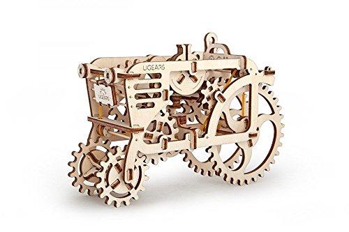 UGEARS 70003 - Tractor, 3D-Holzbausatz ohne Klebstoff