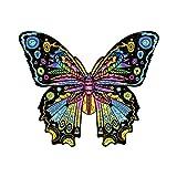 Cuteefun Puzzles Madera para Adultos Puzzles Animales de Formas Unicas Mariposa Puzzles de 200 Piezas para Regalo Familiar