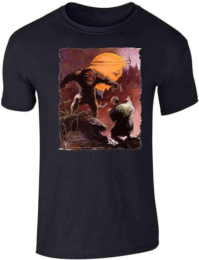 Frank Frazetta Art Death Dealer Barbarian Horror Graphic Tee T-Shirt for Men