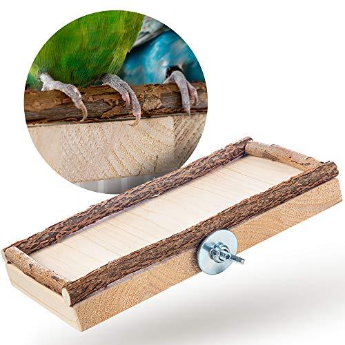Vogelgaleria - Bedarf für Hausvögel in naturholz, Größe M