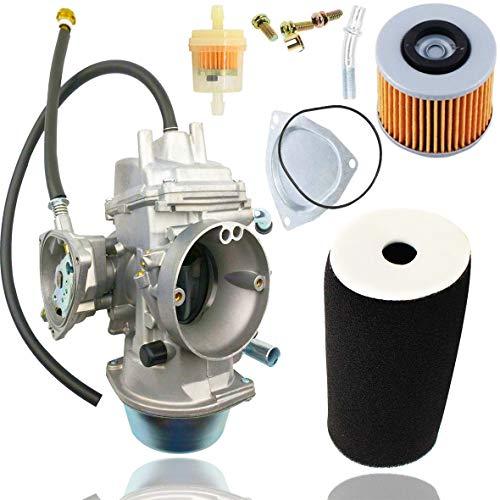 Fyange YFM660 Carburetor+1UY-14451-00-00 Air Filter+Fuel filte for Yamaha Grizzly 660 YFM660 2002 2003 2004 2005 2006 2007 2008 Carb