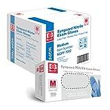Basic Medical Blue Nitrile Exam Gloves - Latex-Free & Powder-Free - NGPF-7002 (Case of 1,000), Medium