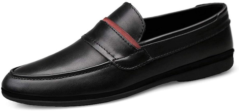 QISTAR-homme Décontracté Affaires Oxford pour Hommes Conduite Penny Loafer Slip sur Cuir véritable Antisilp Chaussures Bateau légères Chaussures de Ville Mocassins (Couleur   Noir, Taille   40 EU)