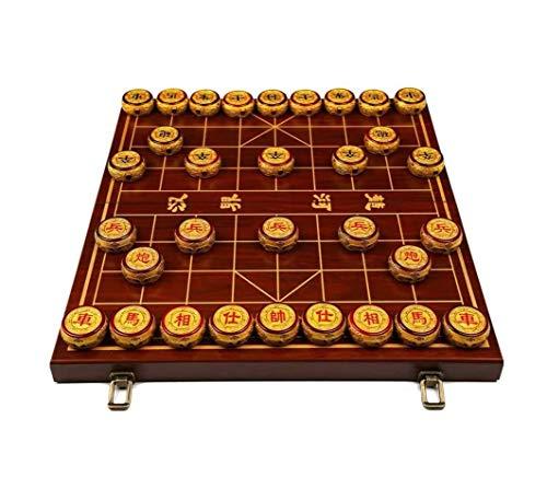 ZOUSHUAIDEDIAN Juego de ajedrez Chino Xiangqi Viajes Juegos Juegos, Material de Clase Superior, con el Tablero Plegable, for 2 Jugadores (Tamaños múltiples a Elegir) (Size : 5cm/2')