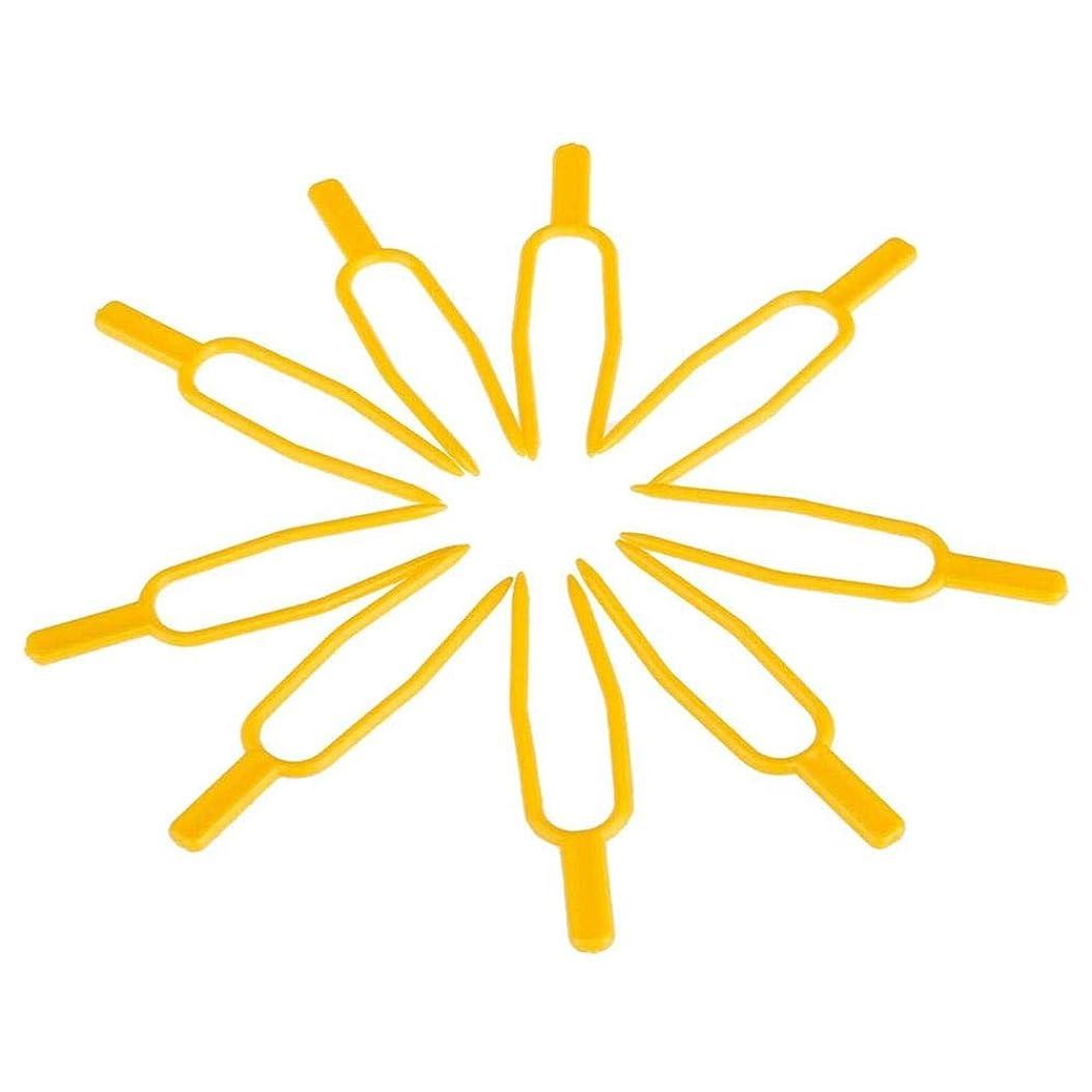 ブラスト実験室連想chaselpod プラントクリップ イチゴフォーク 固定フォーク ガーデンツール DIY 工具 園芸用便利クリップ 100個入りセット