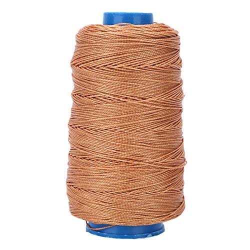iiniim Cordón de Nailon Cordón Encerado Hilo Cuerda Encerado Joyería Cordón Cable Fuerte Tirón Fuerte Línea de Pesca Trenzada Genérica Líneas de Pesca Marrón B One Size