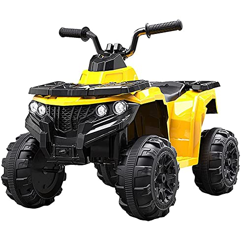 Tastak Coches De 12 V para Niños, 4 Ruedas, ATV, Quad, Motorizados, Velocidad Máxima De 2,2 mph, Camión Eléctrico De Doble Tracción, Juguetes para Montar con Luces LED, Función MP3