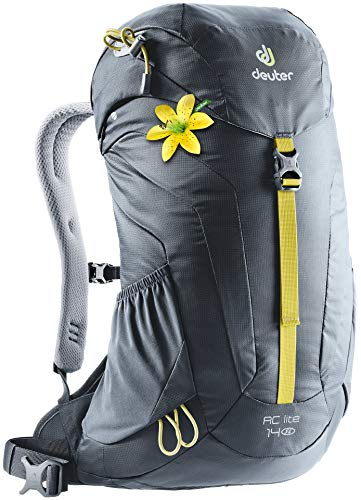 Deuter AC Lite 14 SL Women's 14 Liter Backpack with Lightweight Steel Frame and Ergonomical Straps | Hydration Compatible, Ventilated Back and Rain Cover for Day Hikes - Graphite