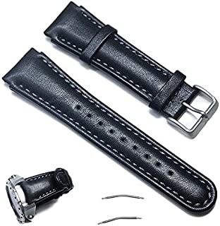 Octane Bands Suunto Xlander Watch Band - Genuine Leather Replacement Strap for Suunto X-Lander with Screw Tool and Spring Bar Pins