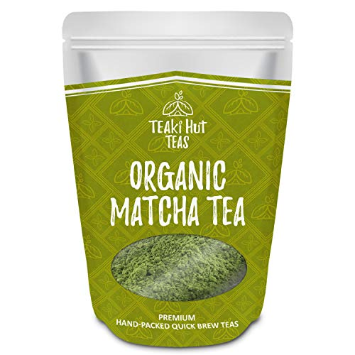TEAki Hut Organic Matcha Green Tea Powder 4 Ounce (100 Servings) Culinary Grade, Excellent Weight Loss Benefits, More Antioxidants than Green Tea Bags, Best for Making Matcha Tea, Smoothies, Lattes