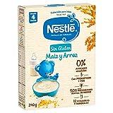 Papillas de cereales NESTLE Sin Gluten Maiz Arroz 240g - Paquetes de 9