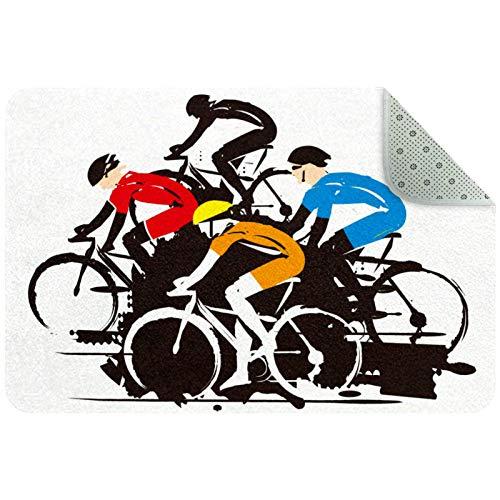 MEITD Felpudo de ciclismo de carretera, resistente para invierno, para exteriores, antideslizante, para entrada