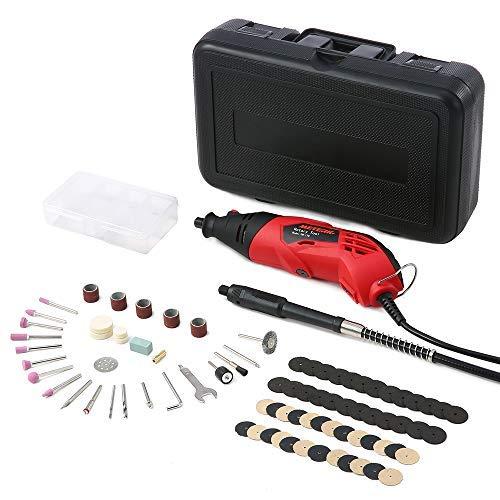Multifunktionswerkzeug, Meterk 170W Drehwerkzeug mit 83 Zubehör(2 Spannzangen -2.3/3.2 mm), 6 variabler Drehzahleinstellungen, Mehrzweckschleifmaschine zum Fräsen, Trennen, Schleifen und Gravieren