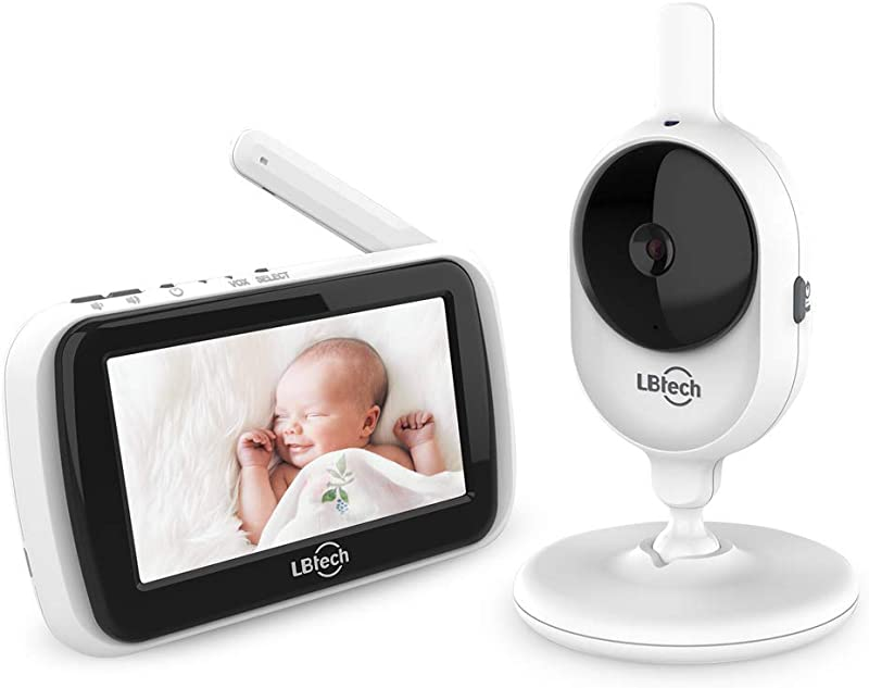 Special Offer LBtech Video Baby Monitor With One Digital Camera And 4 3 Color LCD Screen Infrared Automatic Night Vision Power Saving On Off Up To 960 Ft Range