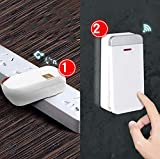 WYMLKUD Wireless Home Smart Türklingel, Empfänger + Sender (self-Powered) ABS-Material Wasserfest/Frostschutz / Hitzeschutz (Farbe : Weiß, größe : 2Transmitter+1receiver)