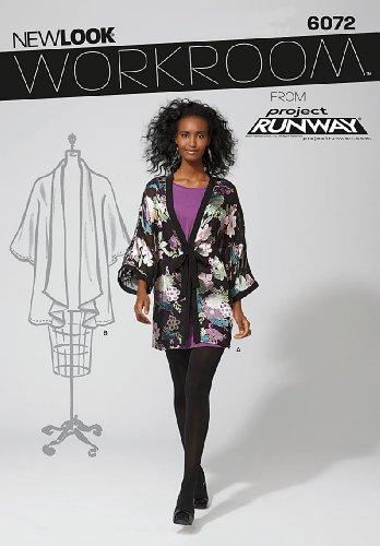 New Look Tamaño 6072 10/12/14/16/18/20/22 Patrones de Costura para Kimono Taller de Project Runway Patrones de Costura