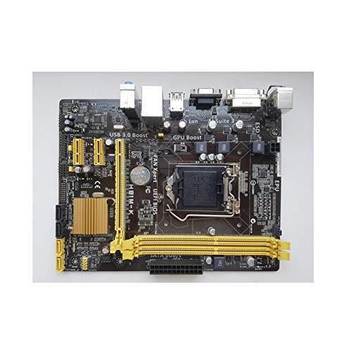 lilili Placa Base De La Computadora Fit For ASUS H81M-K Tablero De Escritorio H81 Socket LGA, 1150 I3 I5 I7 DDR3 16G UEFI BIOS Placa Base
