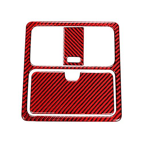 YYAN Pegatina de la luz de la Lectura de la Fibra de Carbono del Coche Pegatina de la Tapa del Interior del Recorte Accesorios para automóviles Ajuste para Nissan 350Z