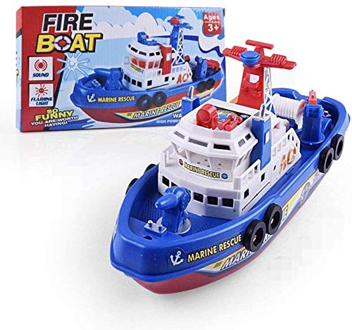 Hercugifts Bath Boat Toy Pool Fire Big Boat Marine Ship Model Bath Water Toy Set Summer Toys Birthday Gift for Kids Style Summer Water Toys