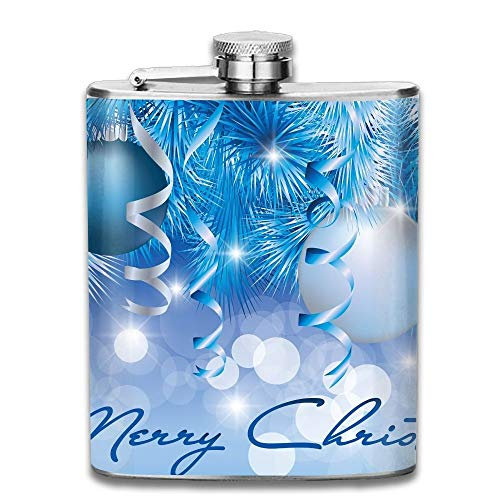 Merry Christmas Ball Logo 304 Stainless Steel Pocket Hip Flask Outdoor Portable Pattern Flagon Water Flasks 70Z