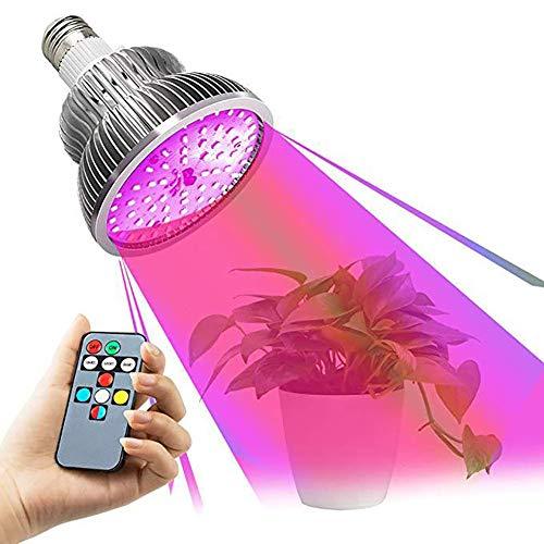 Led Pflanzenlampe 50W E27 Vollspektrum Pflanzenlicht Led Grow Light Lampe High Power Rotes Licht/Blaulicht/Sonnenlicht Farbe Timing Funktion,für Zimmerpflanzen Gemüse und Blumen