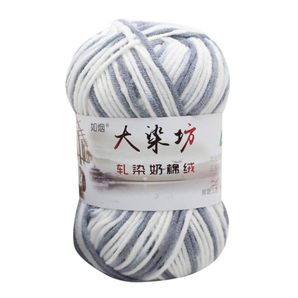Classic Milk Cotton – Diadia 50 g de lana de algodón de bambú – nuevo para ganchillo, tejer algodón de leche de bebé y manualidades, color X: Amazon.es: Oficina y papelería