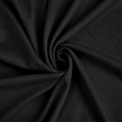 39ef161f3d2 French Terry 100% Cotton Fabric (2 yards, Black)