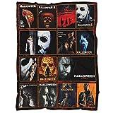 Happy Halloween Blanket,Michael Myers Halloween Movies, for The Best Friend -Horror Blanket-Monster Blankets Mens Fleece Blanket