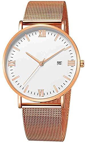 JZDH Mano Reloj Reloj de Pulsera Relojes para Hombre Cuarzo Ultrathin 8mm Acero Inoxidable de Acero Inoxidable Reloj de Pulsera de Negocios Relojes Militares Reloj Reloj Relojes Decorativos Casuales