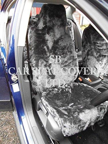 r - Adecuado para Toyota AYGO coche, fundas de asiento, gris Rossini FAUX FUR, 2 frontales