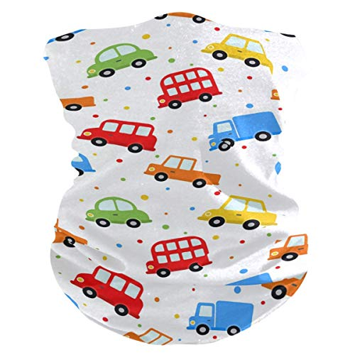 Emonye Face Headband,Cartoon Colorful Truck Dot Sun Protection Convenient Magic Headwear for Unisex Running,25x50cm