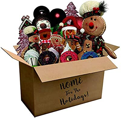 Fraser Hill Farm 152-piece Home for The Holidays Gingerbread Ornament and Decor Set, Black/White/Red