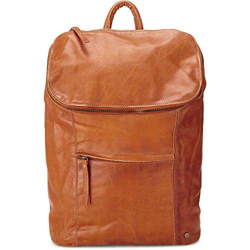 Cox Damen Leder-Rucksack, Daypack in Braun mit Reißverschluss (40 x 29 x 13 cm) Braun Leder 1