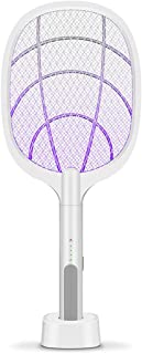 Electric Bug Zapper Racket, Mosquito Killer, Fruit Fly Swatter Zap, Two-In-One USB Rechargeable Electronic Swatter Pest Co...