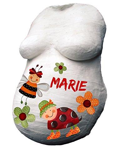 BABYBAUCH Gips Abdruck Set KOMPLETT mit 12 Farben & Geschenkverpackung – statt UVP 24,99€, zum Angebotspreis! Babybauch Gipsbauch Gipsbinden Gipsabdruck