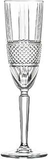 6 Verres/Flûtes à Champagne - Service Diamant (19 cl) - Maison Klein - Artisan du Cristal - Coffret Cadeau - Estampillé : ...