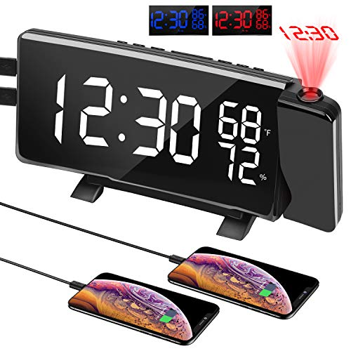 PEMOTech Projection Alarm Clock