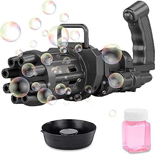 Máquina de Burbujas Gatling Máquina de Burbujas de Jabón para Niños Máquina de Verano Juguetes de Juego Al Aire Libre
