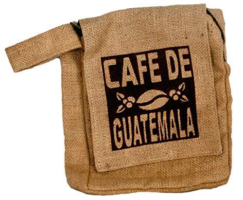Fair Trade Guatemalan Hessian Jute Koffie Schoudertas N37s