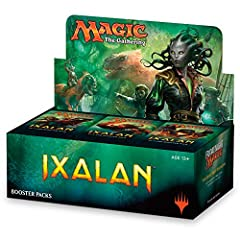 BUILD DECKS. A booster box contains 36 booster packs of Ixalan. Each booster pack contains 15 Magic cards (540 cards total). Pick your favorites, put them in your deck, and battle! FILL YOUR BINDER. Ixalan includes planeswalkers like Vraska, Relic Se...