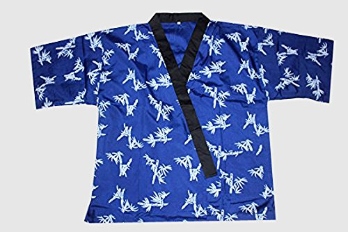 Sunrise Kitchen Supply All Blue Bamboo Print Sushi Chef Uniform (Extra Large)
