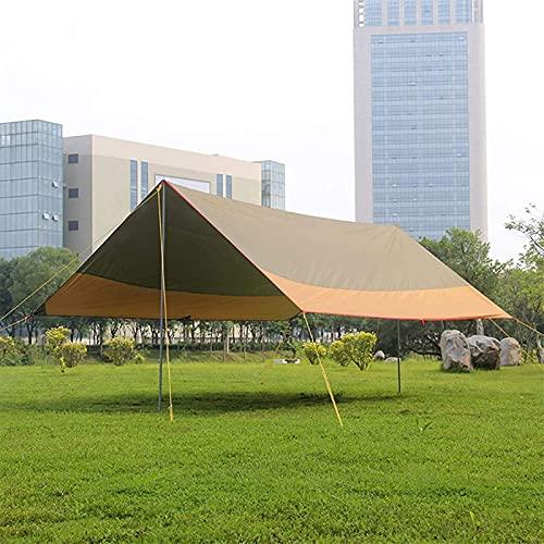 Equipo de campamento Tienda de campaña ligera Sombrilla Toldo para exteriores Carpa para barbacoa Toldo Toldo Playa Ocio Pérgola al aire libre Invernadero (Color: Amarillo + verde Tamaño: 550x440x2