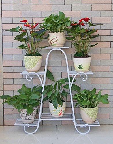 HZA 6 Pot Fleur Cadre De Fer, 6-couches Fleur Racks Pour Dépenser Un Simple De Style Européen De Haute Qualité Bonsai Cadre Balcon Pot de fleurs mur de fer fleur étagères Matériaux de haute qualité ( taille : A2-76*73cm )