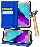 Gadget Giant Samsung Galaxy J2 Prime Case, Blue Premium PU