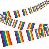 Whaline Bandera Lesbian Gay DE 30 pies de Arcoíris con Bandera de Orgullo LGBT para...