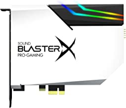 Sound BlasterX AE-5 Hi-Resolution PCIe Gaming Sound Card and DAC with RGB Aurora Lighting System (Option 1: White with 4 LED Strips)