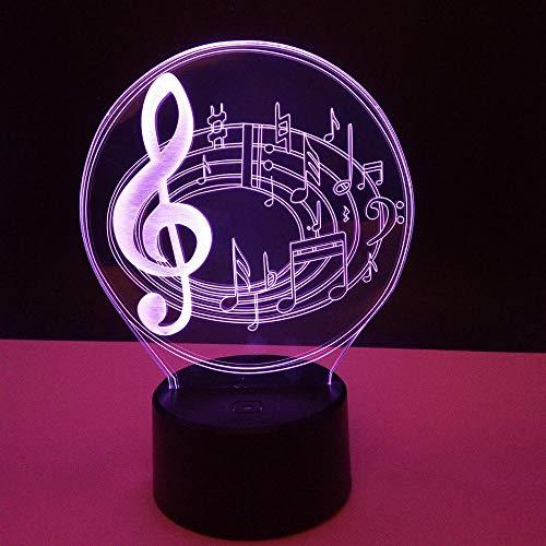 Laizs Led 3D Nachtlicht 7 Farben Abs-Grundstimmung Beleuchtet Dekorationsnotenschalterlichtgeschenk Der Optischen Täuschung Für Kinder
