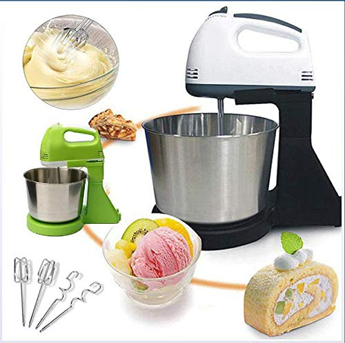 Draagbare Multifunctionele 7 Speed ​​Electric Cake Van Het Voedsel Egg Deeg Blender, Handheld Mixer Met 1.7L Bowl Slagroom Machine
