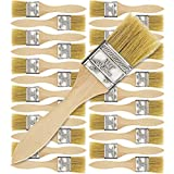 US Art Supply 24 Pack of 1-1/2 inch Paint and Chip Paint Brushes for Paint, Stains, Varnis...